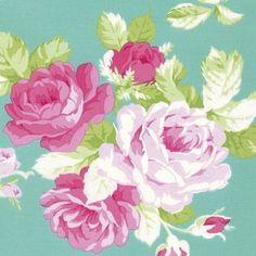 Tanya Whelan - Sadies Dance Card - Big Rose in Jade