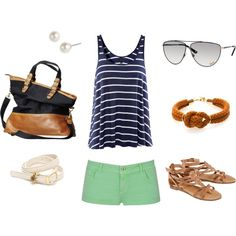 summer. Love the nautical theme and every single thing about this outfit.