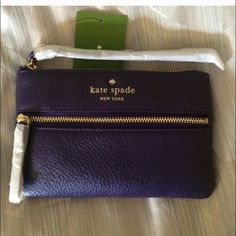 HP 12/10♠️Cobble Hill Wristlet ♠️ Wristlet that holds all the essentials-phone, cards, and makeup! Deep purple color is stunning!trades, reasonable offers! kate spade Bags Clutches & Wristlets