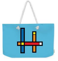 Geometry Weekender Tote Bag featuring the digital art Geometrica Art 301 by Bill Owen