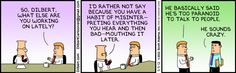 Dilbert - Damned if you do, damned if you dont!
