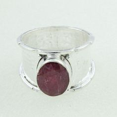 Ruby Agate Stone Designer Look 925 Sterling Silver Rings by JaipurSilverIndia on Etsy