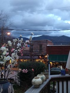 Black Mountain. NC. Pretty sure when we buy a house, it will be near here. Cutest town ever.