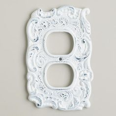 A gorgeous way to frame your electrical outlet, our White Cast Iron Outlet Plate brings a Victorian-inspired decadence to your home. Decorative Accessories, Home Accessories, Electrical Outlet Covers, Bachelorette Pad, Big Girl Rooms, World Market, Switch Plates, Humble Abode, Wall Hooks