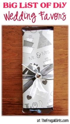 BIG List of DIY Wedding Favors