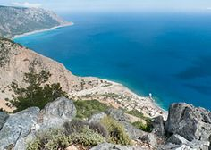 View of Agia Roumeli from a hill above the village - click to enlarge