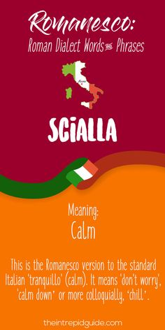 Rome Dialect Roman Words - Scialla