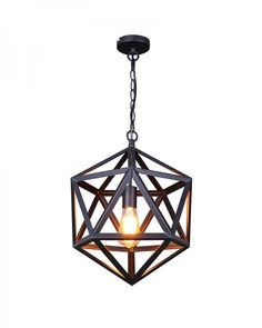 Industrial Style Black Iron Cage Pendant Light. Don't let the prices on these light fixtures freak you out all. Overstock and many other sights have designer lights for a fraction of the price.