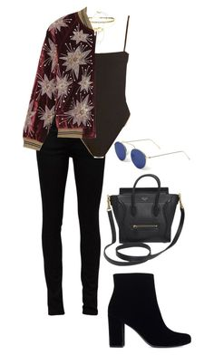 A fashion look from December 2016 featuring yves saint laurent jeans, leather sole boots and multi colored handbags. Browse and shop related looks. Saint Laurent Jeans, Yves Saint Laurent, Madewell, Fashion Looks, Polyvore, Outfits, Clothes, Collection, Shopping