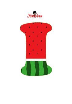 Watermelon Birthday Parties, Fruit Birthday, 2nd Birthday Party Themes, Fruit Party, Watermelon Crafts, Pool Activities, Monogram Alphabet, Alice, Julia
