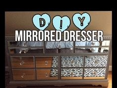 DIY MIRRORED DRESSER (for a fraction of retail) - YouTube
