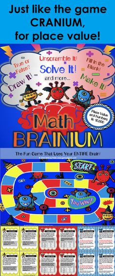 Place Value Game: Ever played the board game Cranium? This place value game version of the popular game gets kids using their ENTIRE brain while practicing numbers to 10,000. In this fun place value game, kids will work in teams to draw, sculpt, unscramble and solve their way to victory (and place value mastery)!
