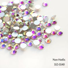 Sale! Super Shiny ss3-ss40 1440pcs/Bag  Clear Crystal AB color 3D Non HotFix FlatBack Nail Art Decorations Flatback Rhinestones ** Want to know more, click on the image.