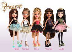 how to dress like a bratz doll   Bratz Princess Roxxi and other four bratz princess characters.