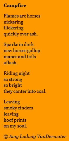 Helpful for Metaphor - The Poem Farm: Flames are Horses - This poem was a part of SPARK 17, a collaboration with artist Diane Mayr.  From Amy Ludwig VanDerwater's blog, The Poem Farm, a site full of hundreds of poems, poem mini lessons, and poetry ideas for home and classroom - www.poemfarm.amylv.com
