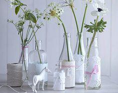 Kreative Blumendeko für die Hochzeit - Tischdeko zur Hochzeit 2 - [LIVING AT HOME]