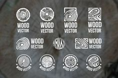 Wood logo - Set of wood rings texture logo Wood Wood, Wood Mantle, Diy Wood, Timber Wood, Wood Tree, Pine Tree, Design Logo, Logo Design Template, Graphic Design