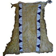 Beaded Hide Lakota Sioux (Brule) Leggings 1870 from uchizonogallery on Ruby Lane