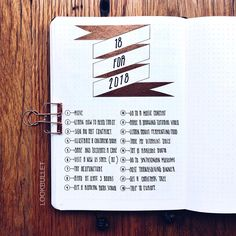 Bullet journal 18 for 2018 page, bullet journal yearly wish list. | @lookbullet