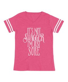 Loving this American Classics Hot Pink 'It's Not Swagger' Football Tee - Plus Too on #zulily! #zulilyfinds