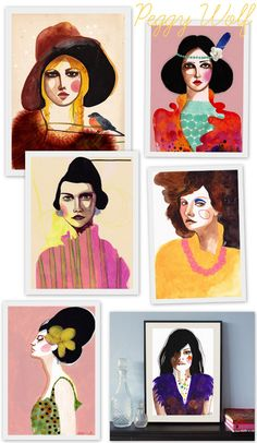 More Peggy Wolf.  Love her style.