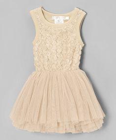 Look at this #zulilyfind! Designer Kidz Champagne Rosette Tulle Tutu Dress - Toddler & Girls by Designer Kidz #zulilyfinds