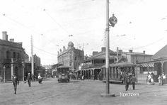 King St & Enmore Rd, Newtown, 1910.
