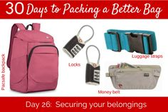 Day 26:  Securing Your Travel Belongings - #herpackinglist #packing