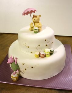 Winnie the Pooh Baby Cake — change out colours for girl or boy