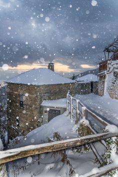 Snow in Pilio, Greece