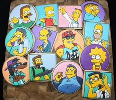 Simpsons Party ⚜ themed cookies