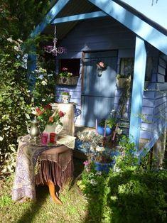 Boho, Gypsy, Colorful, Artsy,  porch  garten lounge  blau gartenhaus bohemian style dekor