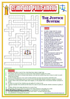 Crime and Punishment - The Justice System