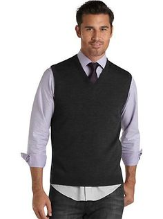 Men's Lambswool Sweater Vest from Lands' End Canvas | Clothing ...