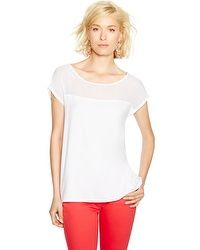 Short Sleeve Boxy High-Low Tee