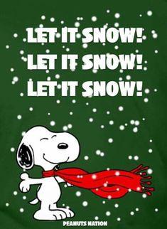 Christmas - Snoopy - Let It Snow! Peanuts Christmas, Charlie Brown Christmas, Christmas Humor, Christmas Fun, Christmas Charts, Xmas, Christmas Movies, Woodstock Charlie Brown, Charlie Brown Peanuts