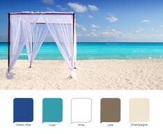More beach wedding colors--beach-y whites.