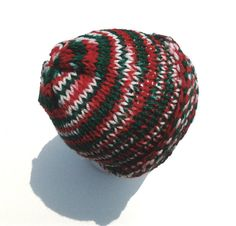 Knitted Hat  Beanie  Christmas Adult Hat by RadicalWorks on Etsy, $20.00