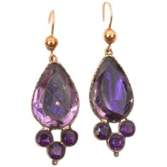 Stunning Purple Paste earrings--rare