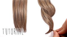 How to draw brown straight and curly hair - Tutorial | Emmy Kalia                                                                                                                                                                                 Mais