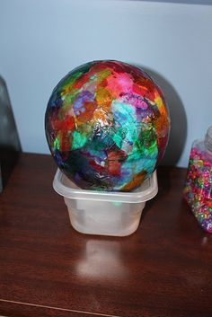 lanterns= use tissue paper and liquid starch and tissue paper on blown up balloon, do 3-4 layers to get a strong shell, then pop balloon (maybe this will go faster and be better than my glue and water test for owl lantern, used so much glue)