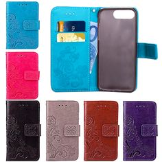 Beautiful Embossing Magnetic Flip Stand Leather Wallet Shockproof Phone Bag Case Cover For Apple iPhone 5 5s SE 6 6s Plus 7Plus