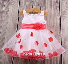 A-line Scoop Tulle Satin Flower Girl Dress With Sash And Petal