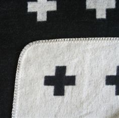 Pia Wallen Cross Baby Blanket