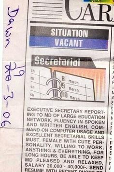 Classified Ad in Dawn News Papers : Height of Sickness