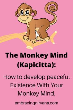 Is your Monkey Mind dominating your thoughts? Like a monkey swinging from branch, our mind go from one random thought to another never staying focused on one thing for very long. Our monkey minds will guide our thinking if we are not mindful of our mischievous companion's actions. Learn to develop peaceful existence with your Monkey Mind at Embracing Nirvana.