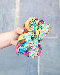 """105.8k Likes, 482 Comments - Tanya Burr (@tanyaburr) on Instagram: """"I just uploaded a new video showing you guys how I made these amazing rainbow bagels with funfetti…"""""""