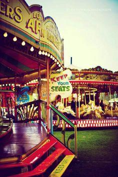 always fun to ride a carousel! Zeppelin, Art Du Cirque, Fair Rides, Retro, Country Fair, Carnival Rides, Road Trip, Fun Fair, Vintage Carnival