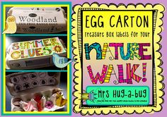 Transform a 12 pack egg carton into a collecting box to store your Nature Walk finds! Can you fill your box with clues to tell us what season it is? Can you fill your box with different rocks and pebbles? This pack includes 12 black and white labels in a bold, fun, funky font which is perfect for the children to color in and personalize....