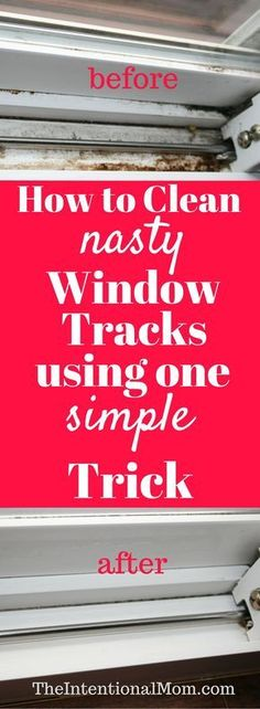 Do you need to clean your nasty window tracks? They can get ugly fast, and no one really likes to clean them. Here's the one simple trick you need to know! via @www.pinterest.com/JenRoskamp